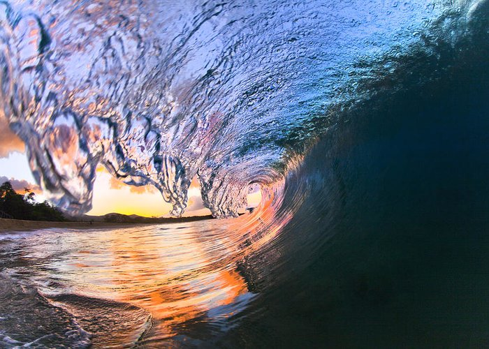 Tubed Greeting Card featuring the photograph Fire And Ice by Sean Davey