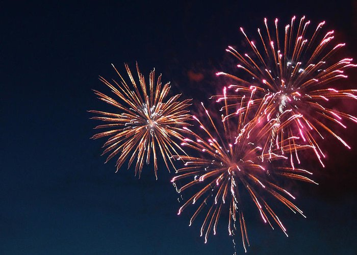 Fireworks Greeting Card featuring the photograph Fireworks Series Vi by Suzanne Gaff