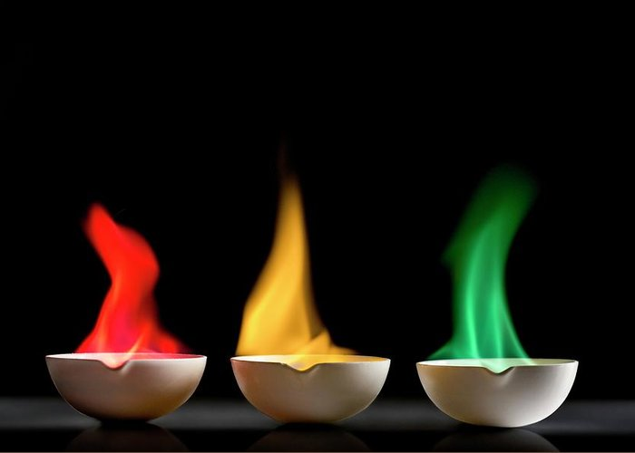 Flame Test Greeting Cards