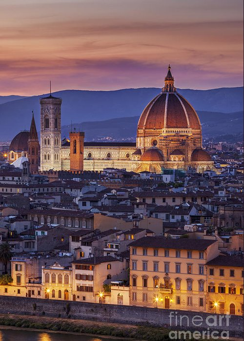 Architectural Greeting Card featuring the photograph Florence Duomo by Brian Jannsen
