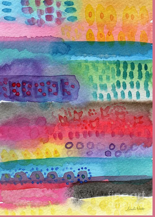Abstract Quilt Greeting Cards