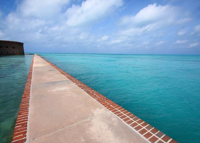 Fort Greeting Card featuring the photograph Fort Jefferson At Dry Tortugas National Park by Jetson Nguyen