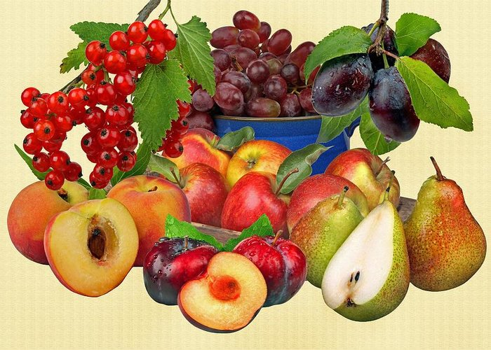 Fruits Greeting Card featuring the photograph Fruits by Manfred Lutzius