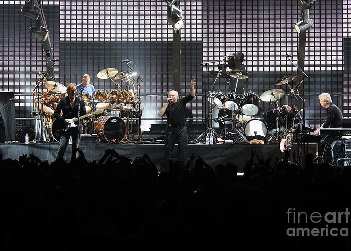 Crowd Greeting Card featuring the photograph Genesis by Concert Photos