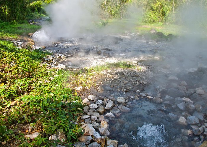 Chiang Mai Greeting Card featuring the photograph Geyser Hot Spring In Huai Nam Dang National Park In Chiang Mai by Ammar Mas-oo-di