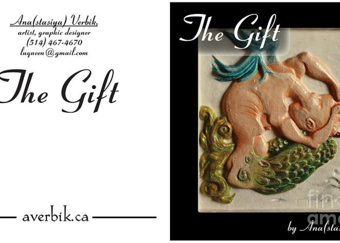 Woman Greeting Card featuring the sculpture Gift by Anastasiya Verbik