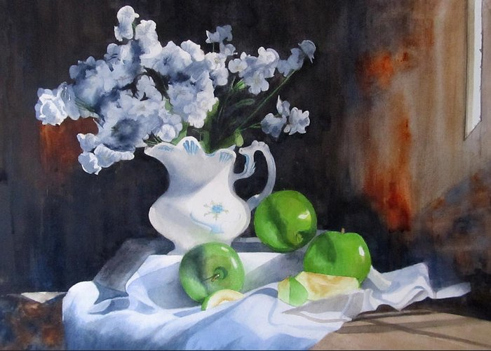 Still Life Greeting Card featuring the painting Glenda's Still Life by Denny Dowdy