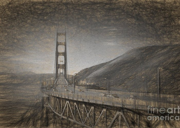 Coast Highway One Drawings Greeting Cards