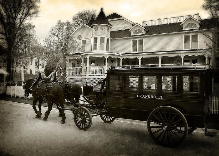 Hovind Greeting Card featuring the photograph Grand Hotel Taxi by Scott Hovind