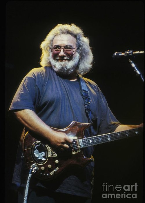 Singer Greeting Card featuring the photograph Grateful Dead - Uncle Jerry by Concert Photos