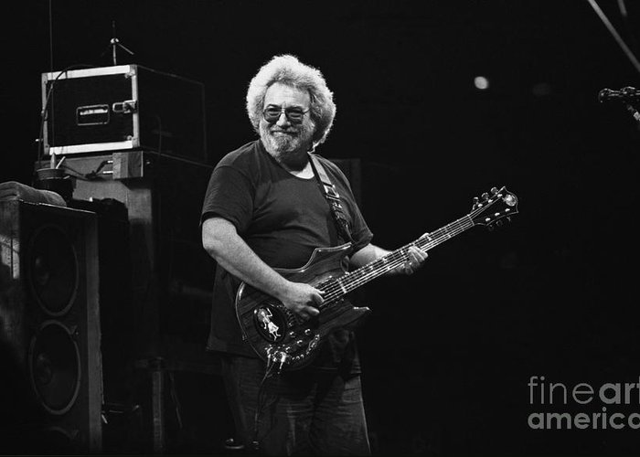 Jerry Garcia Greeting Card featuring the photograph Grateful Dead - Jerry Garcia by Concert Photos