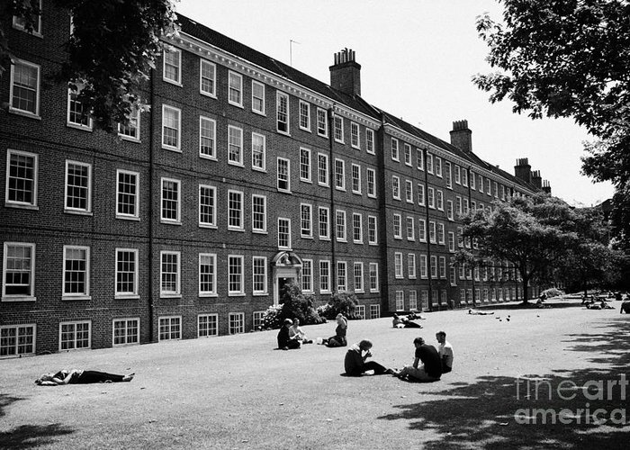 Grays Greeting Card featuring the photograph grays inn field and gardens London England UK by Joe Fox