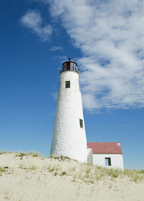 Tranquility Greeting Card featuring the photograph Great Point Lighthouse, Nantucket by Nine Ok