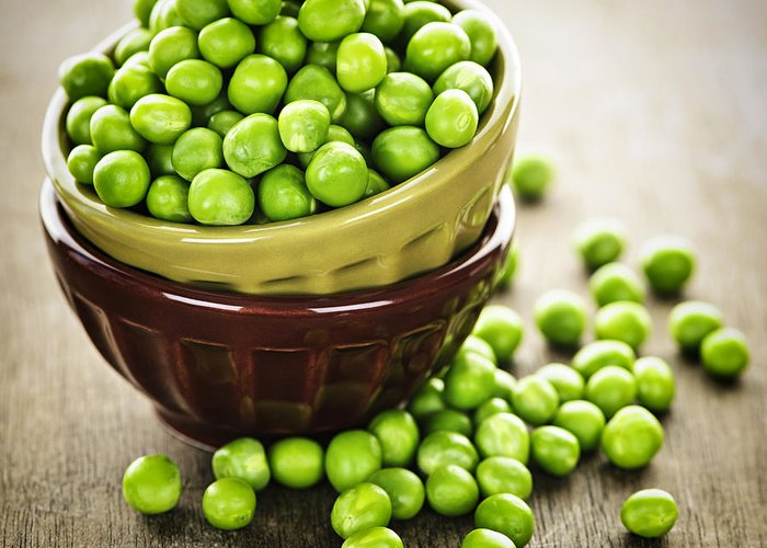 Peas Greeting Card featuring the photograph Green Peas by Elena Elisseeva