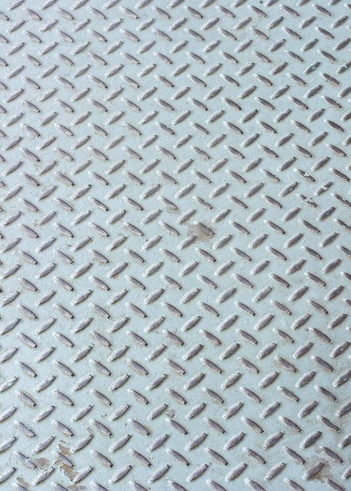 Abstract Greeting Card featuring the photograph Grey Iron Industrial Floor As Background by Ammar Mas-oo-di