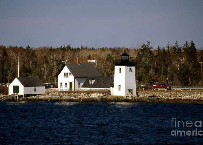 Lighthouses Greeting Card featuring the photograph Grindel Point Lighthouse by Skip Willits