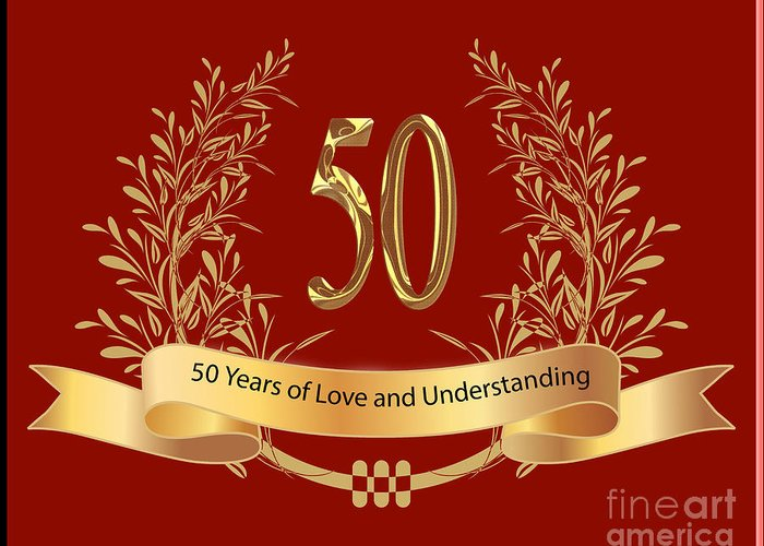 Happy 50th wedding anniversary greeting cards greeting card for sale happy 50th wedding anniversary greeting cards greeting card featuring the digital art happy 50th wedding anniversary m4hsunfo