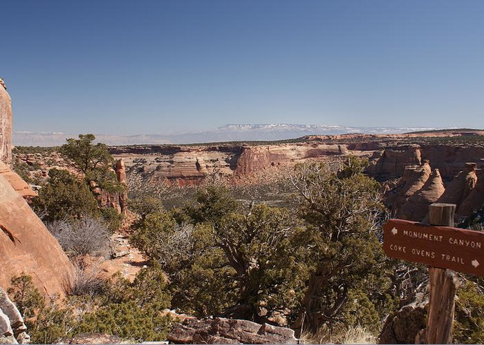 Landscape Greeting Card featuring the photograph Hiking National Monument by Michael J Bauer