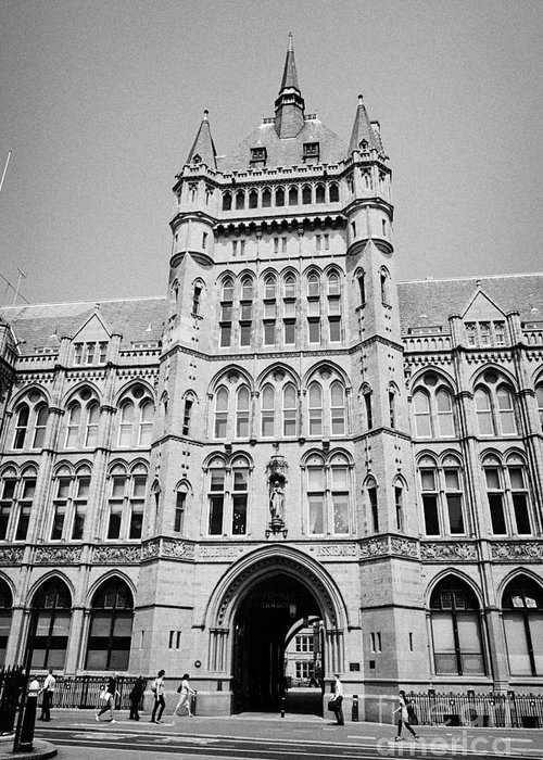 Holborn Greeting Card featuring the photograph holborn bars former headquarters of the prudential assurance London England UK by Joe Fox