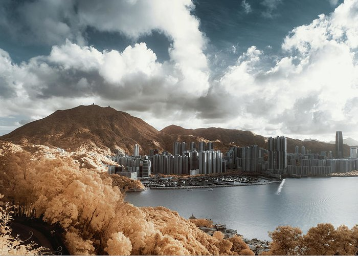 Tranquility Greeting Card featuring the photograph Hong Kong by D3sign