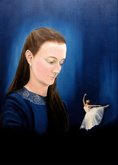 Portraits Greeting Card featuring the painting Hope by Ivan Rijhoff