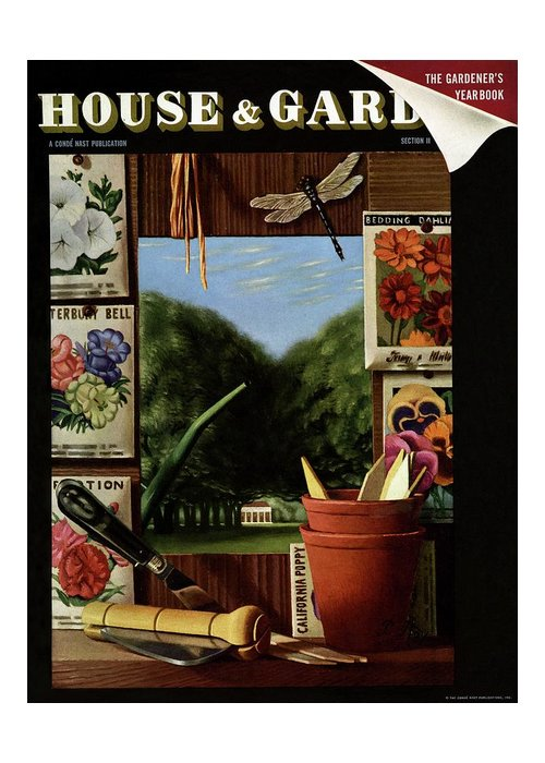 House And Garden Greeting Card featuring the photograph House And Garden Cover by Pierre Roy
