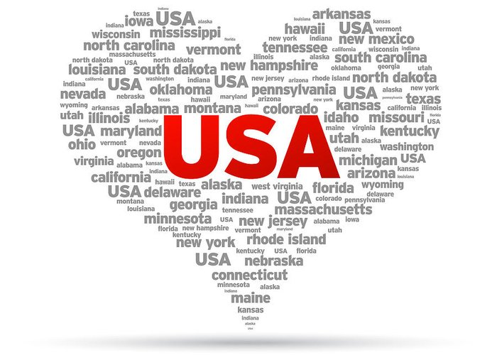 Usa Greeting Card featuring the drawing I Love Usa by Aged Pixel