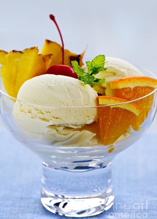 Ice Cream Greeting Card featuring the photograph Ice Cream by Elena Elisseeva