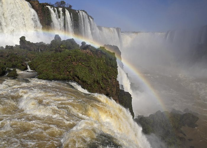 Brazil Greeting Card featuring the photograph Iguassu Fallls by Michele Burgess