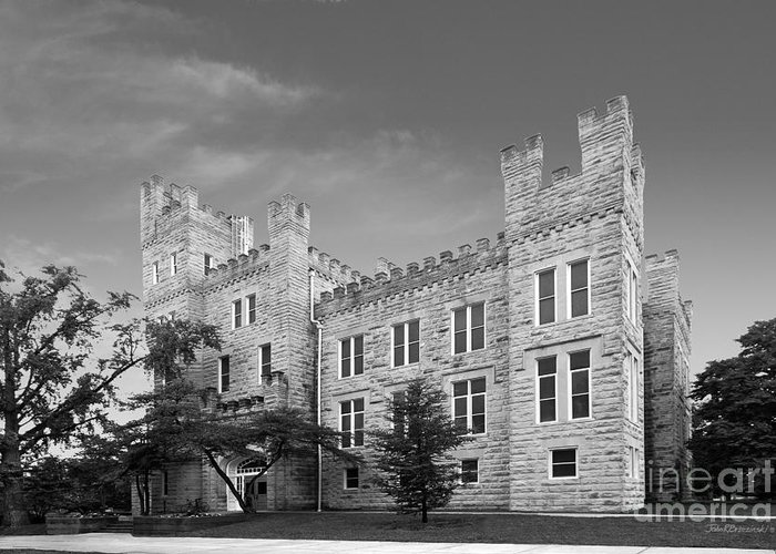 Altgeld Greeting Card featuring the photograph Illinois State University Cook Hall by University Icons