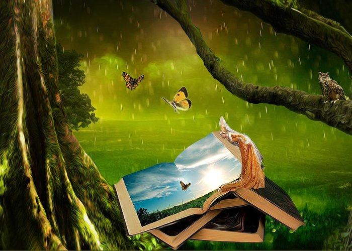 Fairy Greeting Card featuring the digital art Imagination by Yvonne Pfeifer