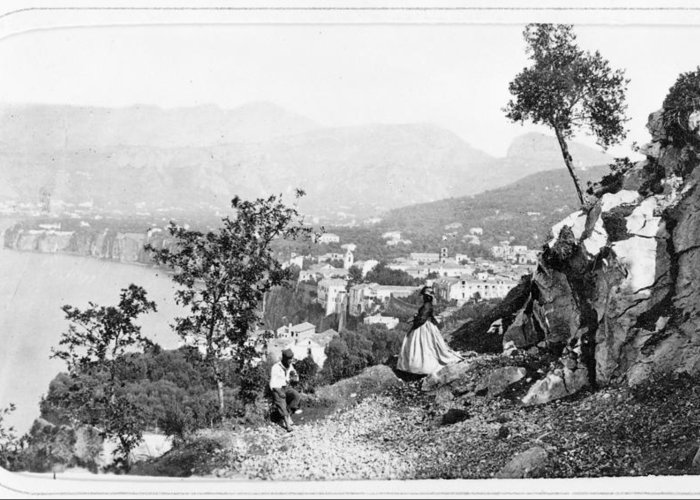 1860s Greeting Card featuring the photograph Italy Sorrento, C1869 by Granger