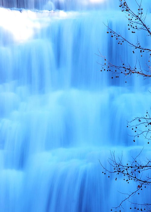 Ithaca Greeting Card featuring the photograph Ithaca Water Falls New York by Paul Ge