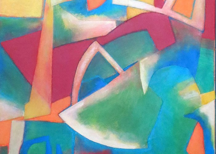 Abstract Expressionism Greeting Card featuring the mixed media Jazz by Diane Fine