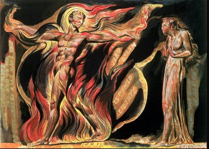 Illuminated Book Greeting Card featuring the painting Jerusalem The Emanation Of The Giant Albion by William Blake