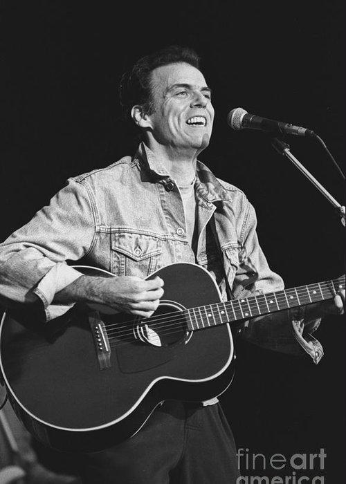 Guitarist Greeting Card featuring the photograph John Hiatt by Concert Photos