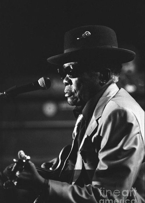 Blues Singer Greeting Card featuring the photograph John Lee Hooker by Concert Photos