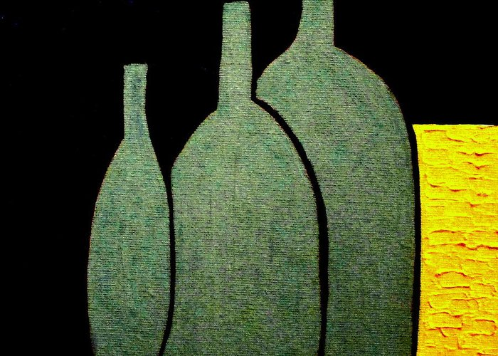 Jugs Greeting Card featuring the painting Jugs by Bill OConnor