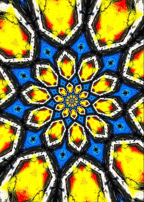 Abstract Greeting Card featuring the photograph Kaleidoscope Of Primary Colors by Amy Cicconi