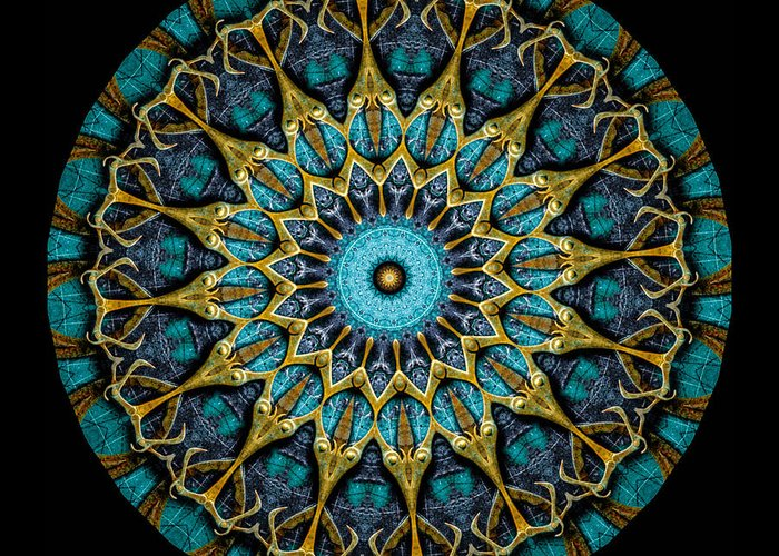 Fantasy Greeting Card featuring the photograph Kaleidoscope Steampunk Series by Amy Cicconi