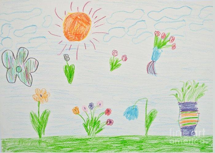 Art Greeting Card featuring the photograph Kid's Artwork by Aleksandar Mijatovic