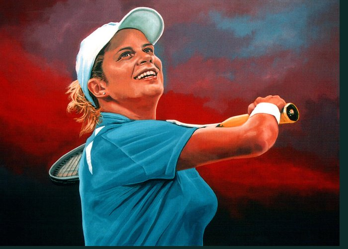 Kim Clijsters Greeting Cards