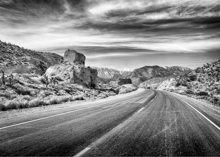 Nature Greeting Card featuring the photograph Kyle Canyon Road by Howard Salmon
