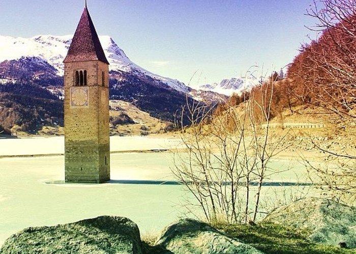 Beautiful Greeting Card featuring the photograph Lago Di Resia - Alto Adige by Luisa Azzolini