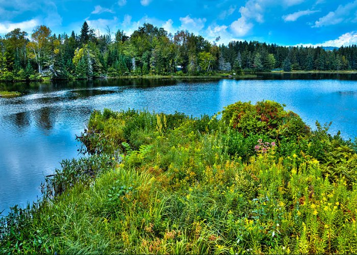 Lake Abanakee Greeting Card featuring the photograph Lake Abanakee In The Adirondacks by David Patterson