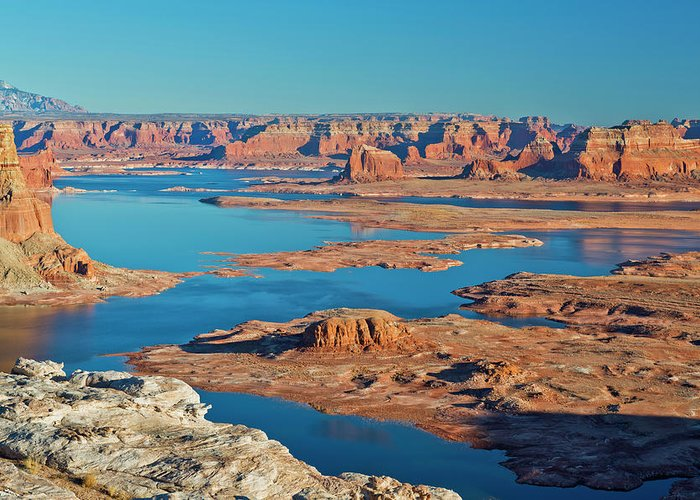 Tranquility Greeting Card featuring the photograph Lake Powell by Chen Su