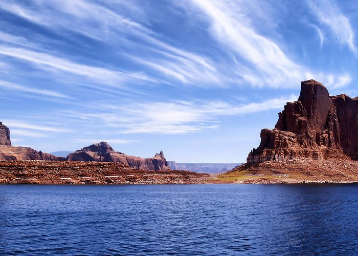 Lake Powell Greeting Card featuring the photograph Lake Powell by Mountain Dreams