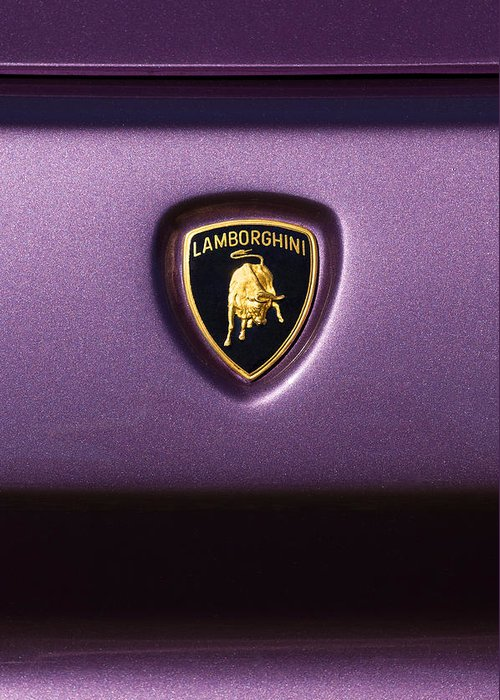Lamborghini Diablo Se Roadster Emblem Greeting Card For Sale By Jill