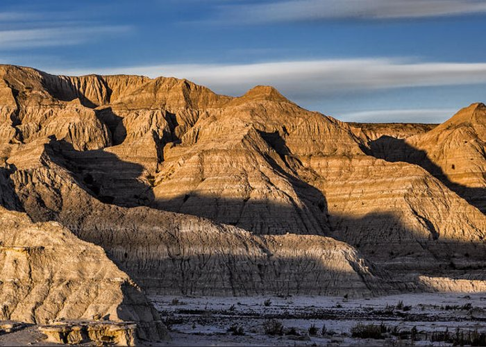 Badlands National Park Greeting Card featuring the photograph Late Afternoon In The Badlands by Abby Krim