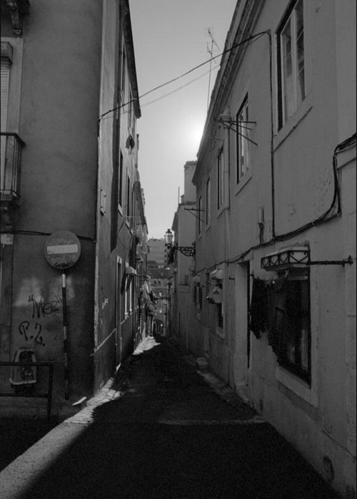 Olympus Greeting Card featuring the photograph Lisbon Streets by Luis Esteves